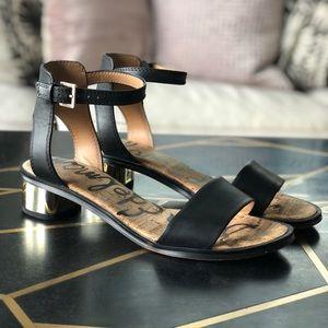 Sam Edelman, Teri, Low Heel Strap Sandal Blk 8.5
